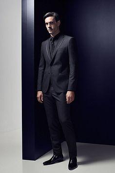 Schwarzer anzug hugo boss
