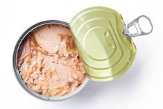 canned tuna isolated on white / Canned soy free albacore white meat tuna packed in water / open tuna tin on a white background Vegetable Fried Rice, Fried Vegetables, Tuna Health Benefits, Mercury In Fish, Chicken To Go, Chicken Marinade Recipes, Marinated Chicken, High Fiber Foods, Mercury