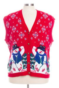 Red Ugly Christmas Vest 28316