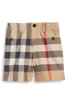 Burberry 'Mini Scout' Check Shorts (Toddler Boys) available at #Nordstrom