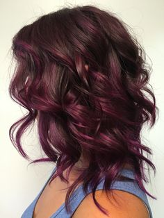 17 Stunning Examples of Balayage Dark Hair Color - Style My Hairs Hair Color Shades, Hair Color And Cut, Brown Hair Colors, Brown To Burgundy Hair, Red Purple Hair Color, Dark Hair With Red, Winter Hair Colors, Cherry Hair Colors, Red Violet Hair