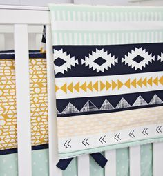 Blanket - Aztec Gold and Mint