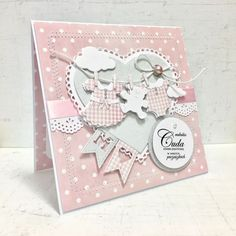 Romantic Home Decor .Romantic Home Decor Baby Girl Cards, New Baby Cards, Scrapbook Bebe, Scrapbook Paper, Decor Crafts, Diy And Crafts, Diy Paper, Paper Crafts, Romantic Home Decor