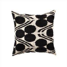 Fur Throw Pillows, Ikat Pillows, Throw Pillow Sets, Decorative Pillows, Pillow Arrangement, Black Silk, Hand Weaving, Oasis, Space