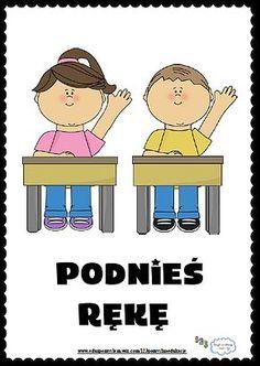 Zasady klasowe- Podnieś rękę Learn Polish, Special Education, Montessori, Behavior, Children, Kids, Kindergarten, Family Guy, Clip Art