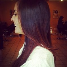 Copper ombre by Liz Young at Salon Aria