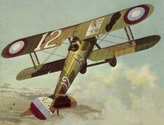 Nieuport 28 Eddie Rickenbacker, by John Amendola