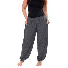 b6aedc3977c White Mark Harem Knit Jogger Pants-Plus Plus Size Outfits