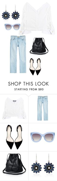 """""""Untitled #810"""" by echi13 ❤ liked on Polyvore featuring Jacquemus, Current/Elliott, Zara, Alice + Olivia and Nam Cho"""