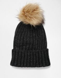 Pieces | Pieces Varen Pom Beanie Hat at ASOS