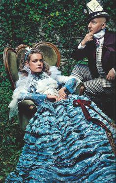 Curiouser and Curiouser: Annie Leibovitz, Grace Coddington, Natalia Vodianova & Stephen Jones VOGUE 2003