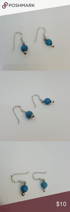 925 silver dangle earrings with turqoise 925 silver dangle earrings with turqoise Jewelry Earrings