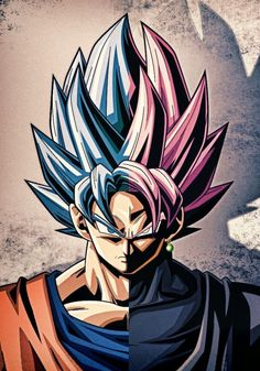Did You Know: Super Saiyan Rośe is the evil and corrupted version of Super Saiyan Blue, so if Goku was evil, he could've unlocked this form, instead of Super Saiyan Blue. My guess from watching the Zamasu arc is that if you have god ki and become evil, yo Dragon Ball Gt, Black Goku, Goku Blue, Fan Art, Goku Vs, Goku Super, Goku Black Super Saiyan, Son Goku, Kuroko