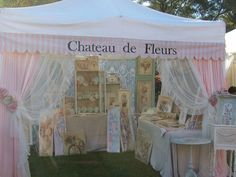 This craft show booth is a perfect example of being branded and attracting a specific customer