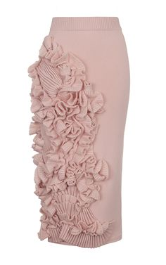 Decorated Cashmere Pencil Skirt by RUBAN for Preorder on Moda Operandi