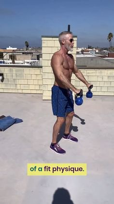 Healthy shoulders are an essential part of a fit physique. Click-through for a complete shoulder workout. #shoulders #healthy #fit #physique #delts #kettlebells #deltoids #rotatorcuff #mobility #strength #over50 #overfiftyandfit #workout #longevity #fitness
