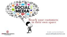 social media:- Reach your customers in their own space more info-> http://www.eruditewebsolutions.com/services.php  #SocialMedia #SocialMediaOptimization #SearchEngineMarketing #Seoservices