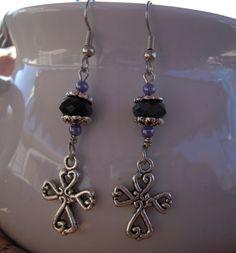 Charmed Cross Earrings.