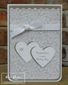 2 heart wedding card