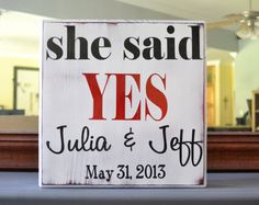 Personalized Engagement Gift Wedding Gift Engagement by CSSDesign, $33.00