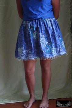 Circle Skirt Blue Hawaii inspired tropical by ThreeWingsOnaField, $15.00
