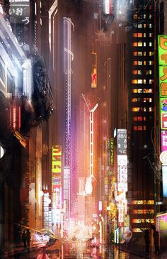 speed sci-fi city, Pierre-Alexandre Schuller