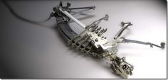 Sculpture by Jeremy Mayer made out of typewriter parts