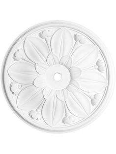 I wouldn't mind a ceiling medallion like this for our bedroom: Antique Lighting. Biltmore 16 Ceiling Medallion With Center Hole Plaster Ceiling Design, Ceiling Tiles, Ceiling Decor, Ceiling Lights, Victorian Ceiling Medallions, Lotus, Mold In Bathroom, Bathroom Ideas, Bathrooms