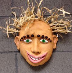 Ceramic mask, high school ceramics project