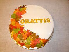 Autumn birthday cake