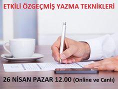 26 Nisan Saat 12.00'de Etkili Öz Geçmiş Yazma Teknikleri Konulu Eğitim Sizlerle Online ve Canlı!