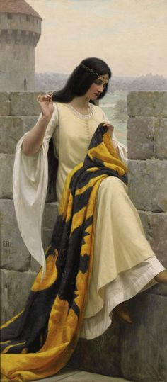 Edmund Blair Leighton Stitching the Standard painting is shipped worldwide,including stretched canvas and framed art.This Edmund Blair Leighton Stitching the Standard painting is available at custom size. Art And Illustration, Creation Art, Wow Art, Fine Art, Beautiful Paintings, Painting & Drawing, Art History, Fantasy Art, Art Gallery