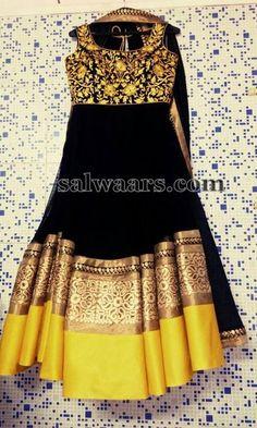 Black Maggam Work Salwar - Indian Dresses