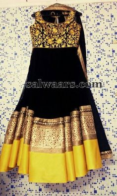 Black Maggam Work Salwar - Indian Dresses