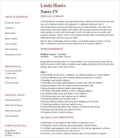 12+ Babysitter Resume Templates | Free Printable Word U0026 PDF
