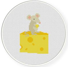 FREE for July 16th 2015 Only - Cheese is Mine Cross Stitch Pattern