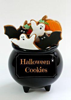 2014 Halloween Royal Icing Cookies In a Jar - Table Decor Ideas, Food Recipes  #2014 #Halloween