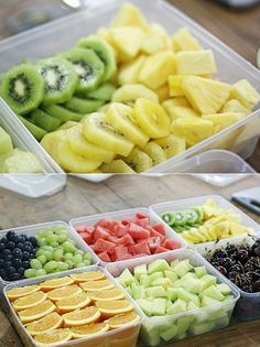 When I have it prepped like this...I can NOT KEEP THE FRIG STOCKED! No more throwing away a bunch of bad fruits and veggies...LOVE IT! As soon as I get the stuff cut and in the frig it is GONE! ( Guess like me everyone is just too lazy to prepare it when they want a snack!)