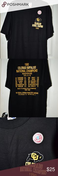 85f5d23e2 Vintage Colorado buffalo College T-shirt Vintage Colorado buffalos  championship T-shirt from the