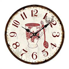 New eiffel tower french country wall clock shabby paris - Country style wall clocks ...