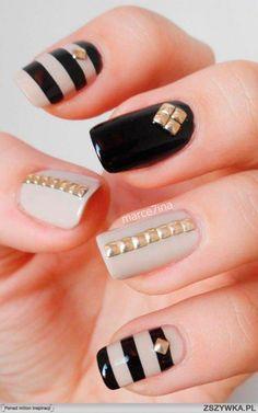 Stylish Studded Manicure Ideas #Studdednails