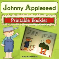 #johnnyappleseed  It's apple harvesting season!  Johnny Appleseed was an American nurseryman.    Have your students learn about the contributions made by this American frontier hero! Here's a printable Johnny Appleseed booklet.  Print, fold, and staple.