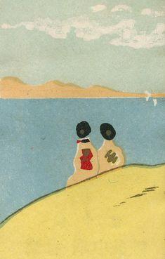 japanese matchbox label by Jane McDevitt Japanese Prints, Japanese Art, Japanese Branding, Vintage Colour Palette, Matchbox Art, Retro Wallpaper, A Level Art, Retro Illustration, Vintage Posters