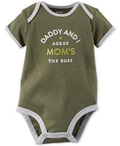 188b524d9 Carter's Baby Boys' Short-Sleeve Mom's the Boss Bodysuit & Reviews - All  Baby - Kids - Macy's