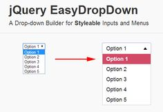 Create Beautiful <SELECT> Dropdown With EasyDropDown.Js #jQuery