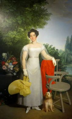 Painted by Josef Ziegler, it is a portrait of Elisabeth Erdody, who may be related to Count Erdody, of whom there is a terrific photograph in Zagreb. In it, he is doing