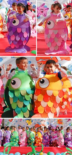 Disfraz de pecesito Book Day Costumes, Book Week Costume, Fancy Dress For Kids, Kids Dress Up, Fish Costume, Halloween Costumes For Kids, Animal Costumes, Cute Costumes, Nutrition Month Costume