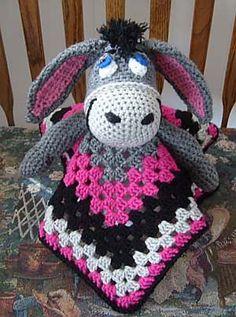 Ravelry: Eeyore Inspired Lovey Blankie pattern by Knotty Hooker Designs  $2.75