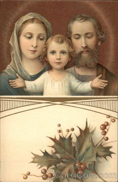 Baby Jesus, Mary, and Joseph Madonna & Child