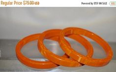 Check out this item in my Etsy shop https://www.etsy.com/listing/268376638/vintage-bakelite-bangles-set-of-3